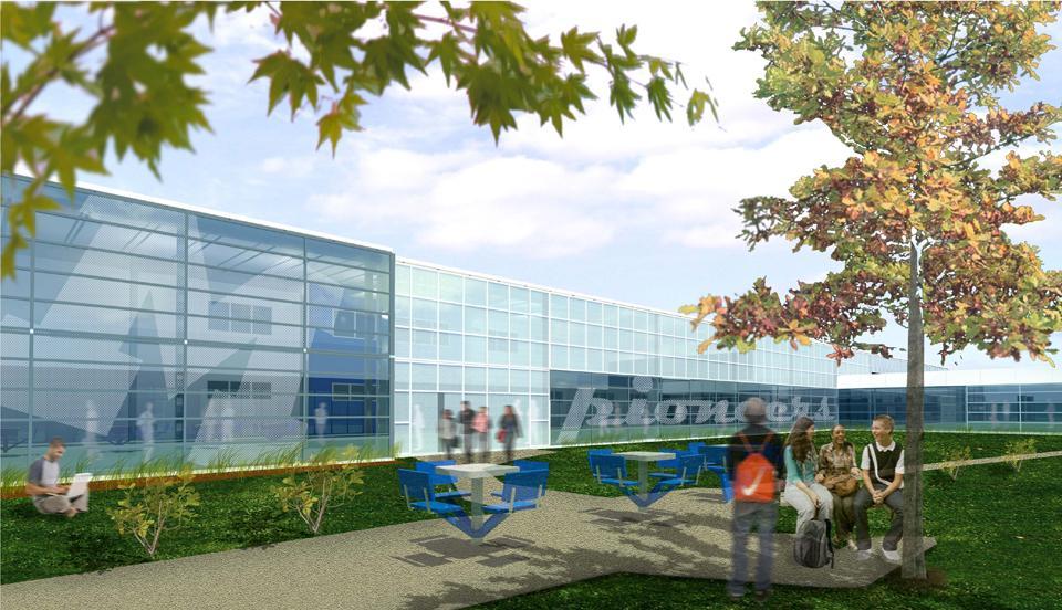 Mooresville High School Renovation - rendering