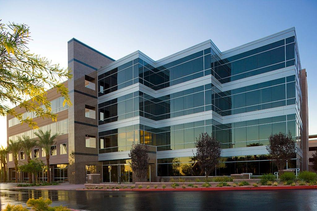 green building office exterior