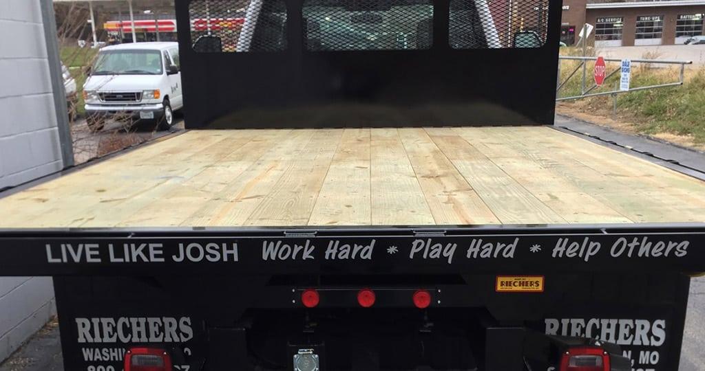 """Josh Seidel truck """"Live Like Josh"""""""