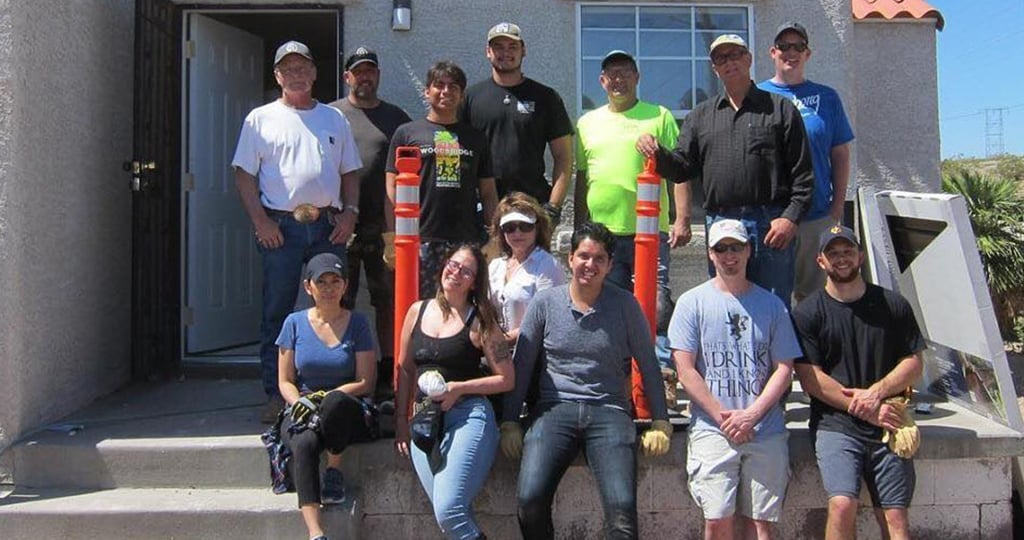 The Korte Company's volunteer team at St. Jude's Ranch for Children, Las Vegas